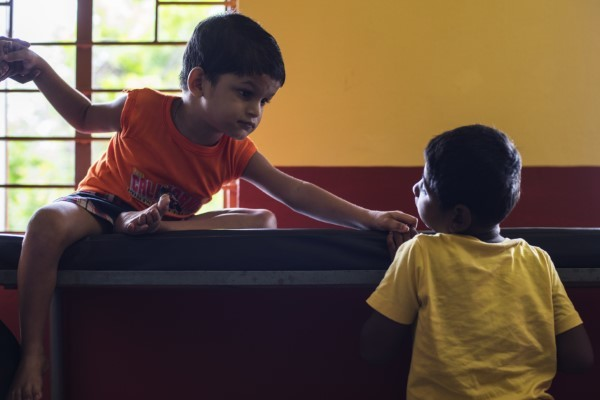 Differently-abled children at Cheshire Home, Kolkata